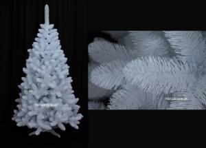 biele vianočné stromčeky umelé