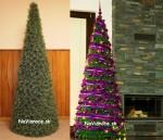 Luxusné kužeľové vianočné stromčeky.