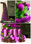 vianočné kužeľové stromčeky