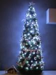 umelý kužeľový vianočný stromček