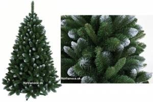 umelé vianočné stromčeky zasnežené borovice