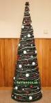 prizdobené vianočné stromčeky