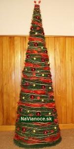umelý červený stromček vianočný