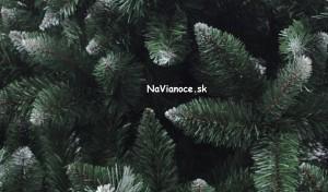 umelý vianočný stromček lux biely