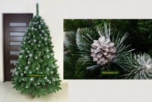 vianočné stromčeky so šiškami