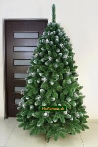 strieborné vianočné stromčeky