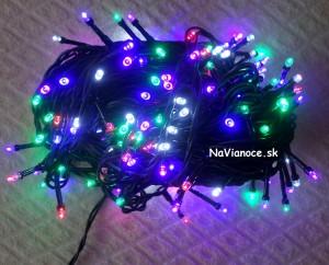 farebné vianočné osvetlenie na stromček LED