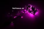 fialové vianočné led osvetlenie na Vianoce