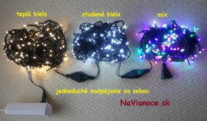 vianočné led žiarovky na vianočné stromčeky