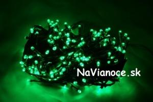 zelené led vianočné žiarovky