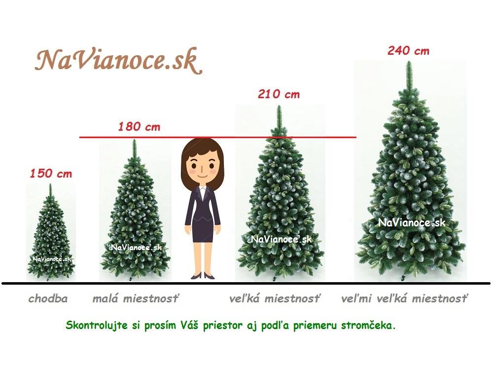aké vysoké vianočné stromčeky