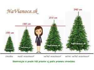 výška umelého vianočného 3d stromčeka