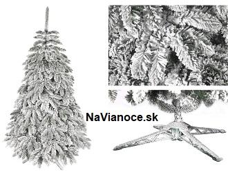 biely zasnežený vianočný stromček