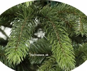 jemný farebný prechod na halúzke 3d vianočného stromčeka