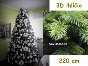 kvalitný 3d umelý vianočný stromček